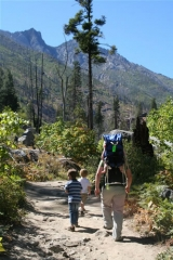 Alpine Wilderness Trail. One of many hiking excursions in the local area