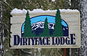 Dirtyface Lodge sign